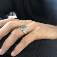PRINS | Adam zegelring breed zilver 3