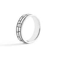 PRINS AMSTERDAM | Zilveren band ring #2 1