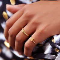 MY JEWELLERY | Initial ring goud maat 17 4