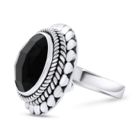 CLOSE TO ZEN | Ring - Blossom black onyx 1