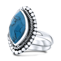 CLOSE TO ZEN | Ring - Little gyspy soul turquoise 1
