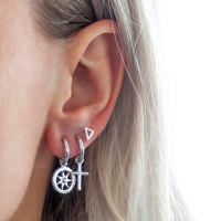 JWLS4U | Earstuds Triangle Silver 2