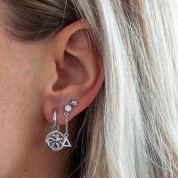 JWLS4U   Oorhangers Triangle Silver 2