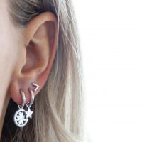 JWLS4U | Earrings Star Silver 2