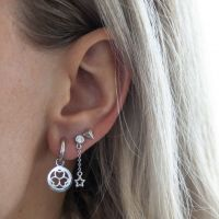 JWLS4U | Earrings 3 Hearts Silver 2