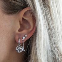JWLS4U | Earrings Lucky Leaf Silver 2
