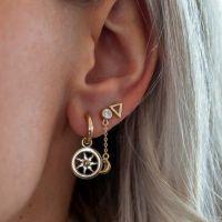 JWLS4U | Earrings Triangle Gold 2