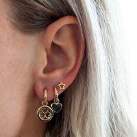 JWLS4U | Earrings Star Open Gold 2