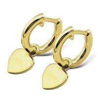 JWLS4U | Earrings Heart Gold 1