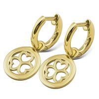 JWLS4U | Earrings 3 Hearts Gold 1