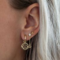 JWLS4U | Earrings 3 Hearts Gold 2