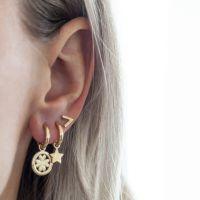 JWLS4U | Earrings Lucky Leaf Gold 2