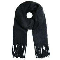 SELECTED   Sjaal franje zwart 1
