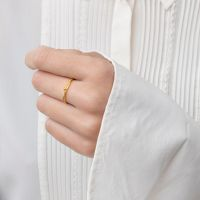 A BREND | Charla 18K Gold Plated Ring Maat 19 2