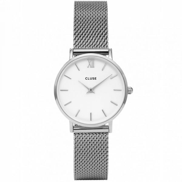 CLUSE | Minuit mesh silver - white