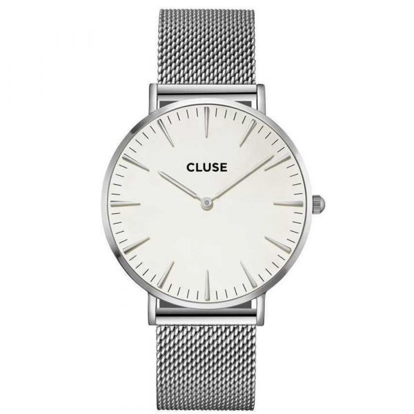 CLUSE | Boho Chic mesh silver - white