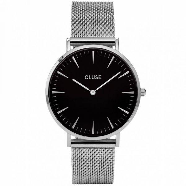 CLUSE | Boho Chic - Mesh Zilver/Zwart