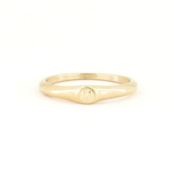 MY JEWELLERY | Initial ring goud maat 18