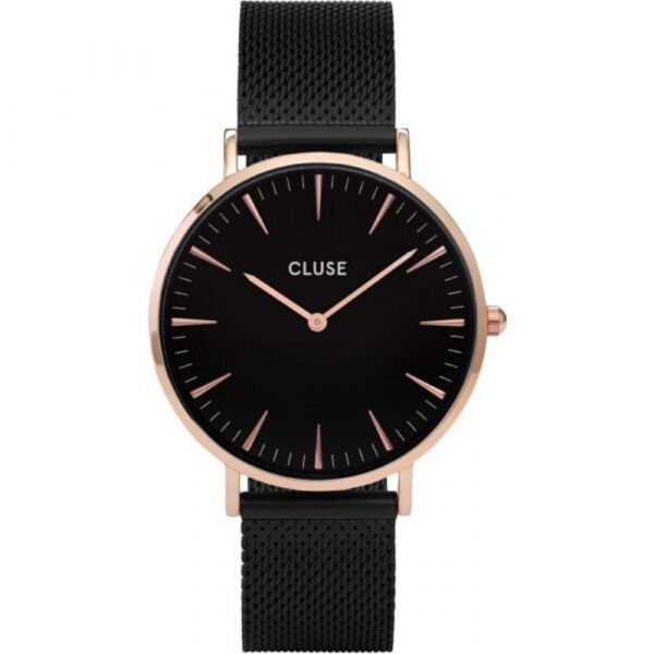 CLUSE | La Boheme mesh black rose gold black