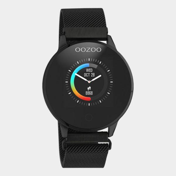 OOZOO | Smartwatch unisex zwart/zwart mesh