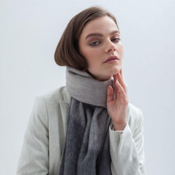 BUFANDY   Sjaal Ombre - Grey Marble