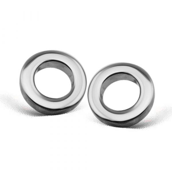JWLS4U | Earstuds Circle Silver