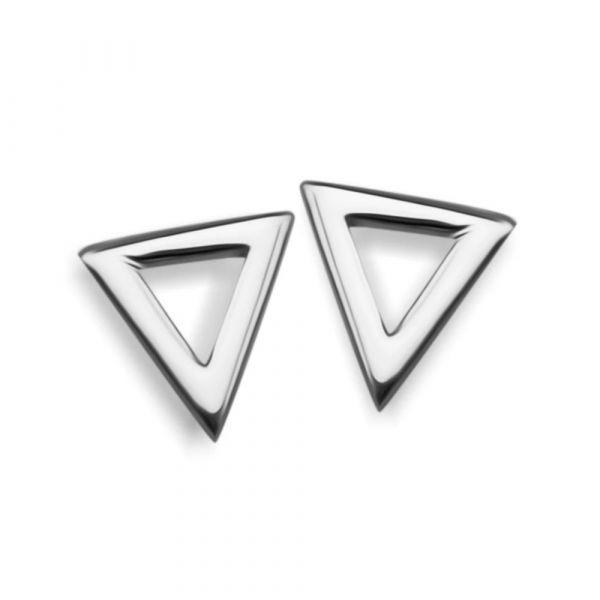 JWLS4U | Earstuds Triangle Silver