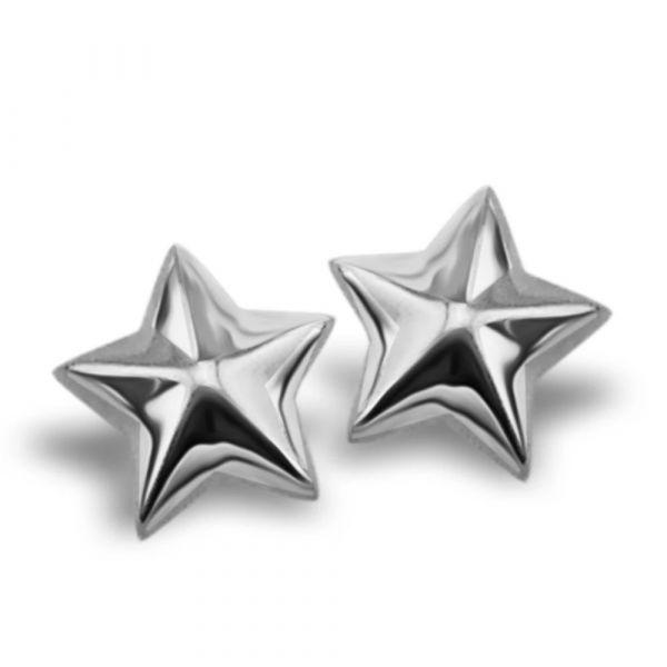 JWLS4U | Earstuds Star Silver