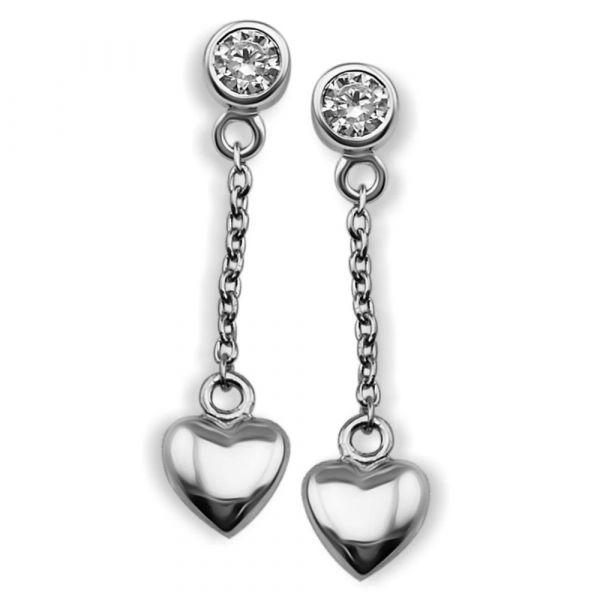 JWLS4U | Oorhangers Heart Silver