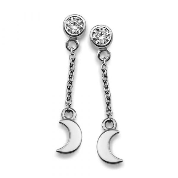 JWLS4U | Oorhangers Moon Silver