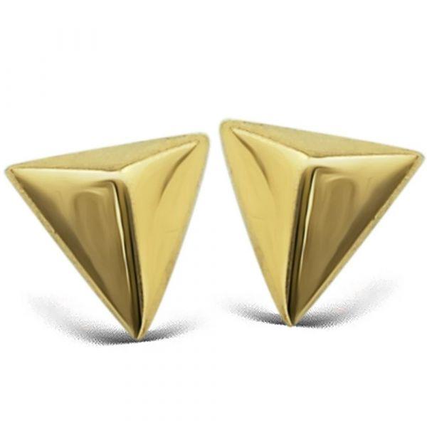JWLS4U | Earstuds Pyramide Gold