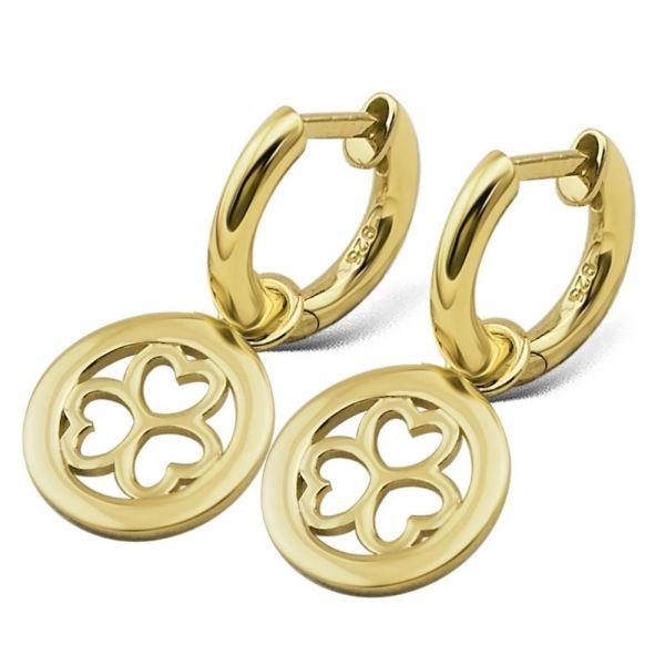 JWLS4U | Earrings 3 Hearts Gold