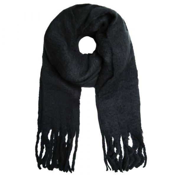 SELECTED | Sjaal franje zwart