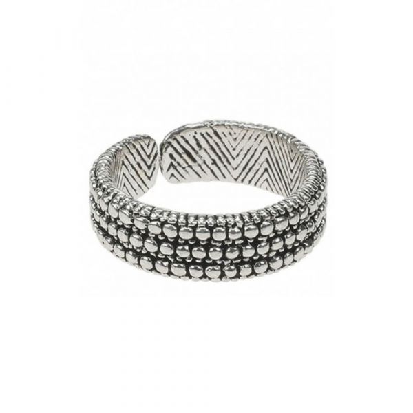 CAMPS & CAMPS | Ring dotted silver plated