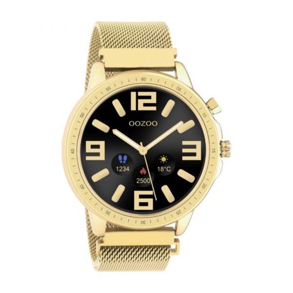 OOZOO | Smartwatch unisex goud mesh