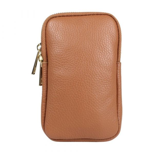Baggyshop | Call me up Leather - Cognac/Gold