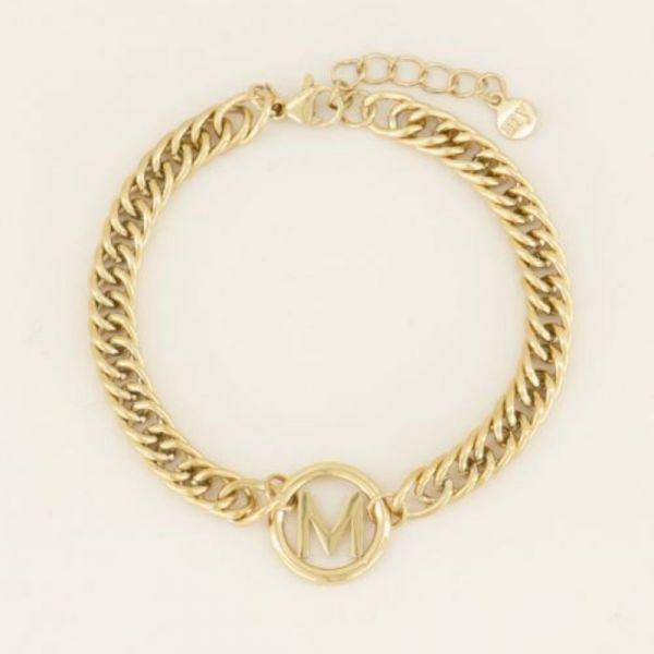MY JEWELLERY | Armband chunky initials gold
