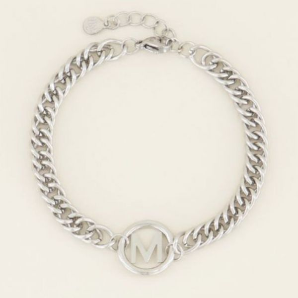 MY JEWELLERY | Armband chunky initials silver