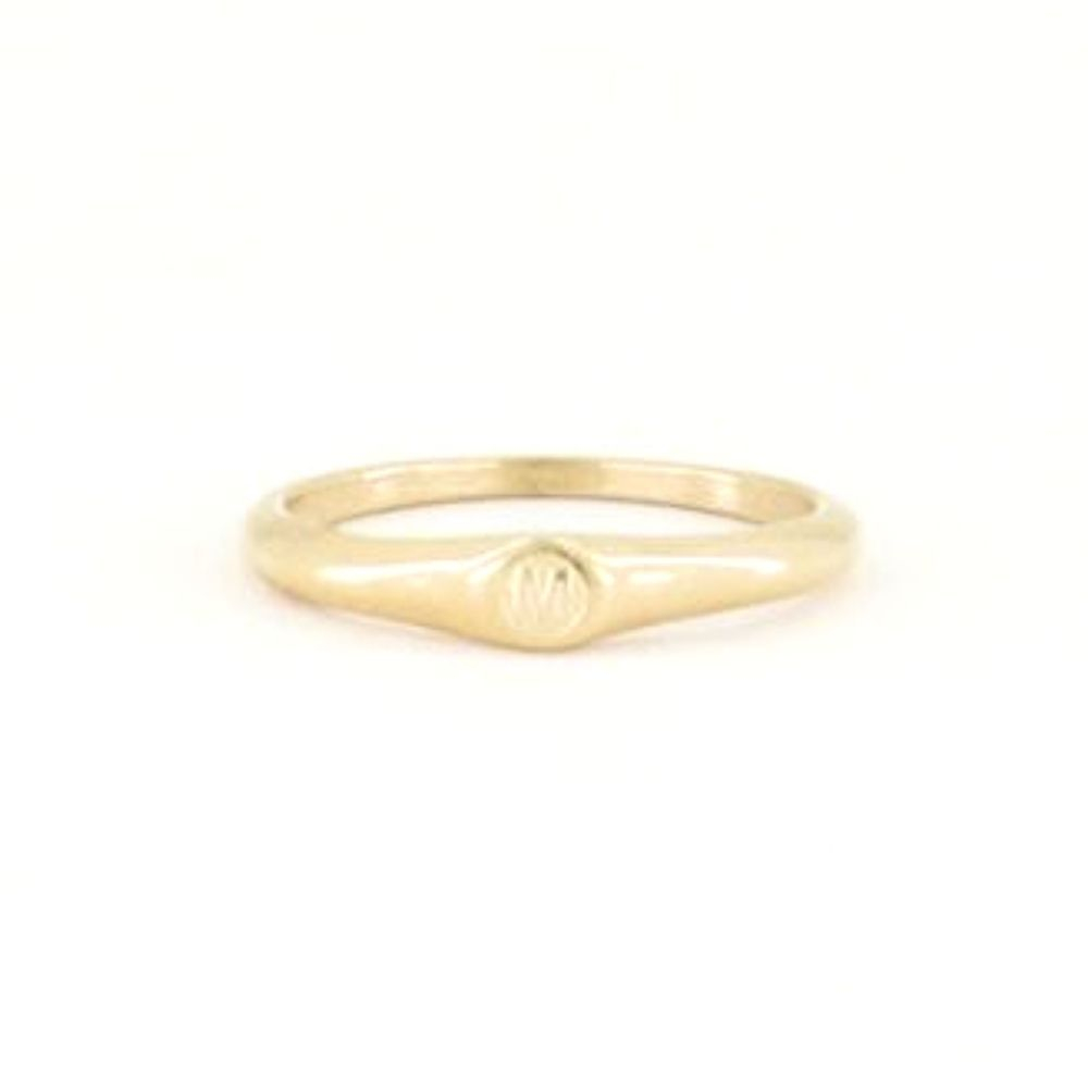 MY JEWELLERY | Initial ring goud maat 17