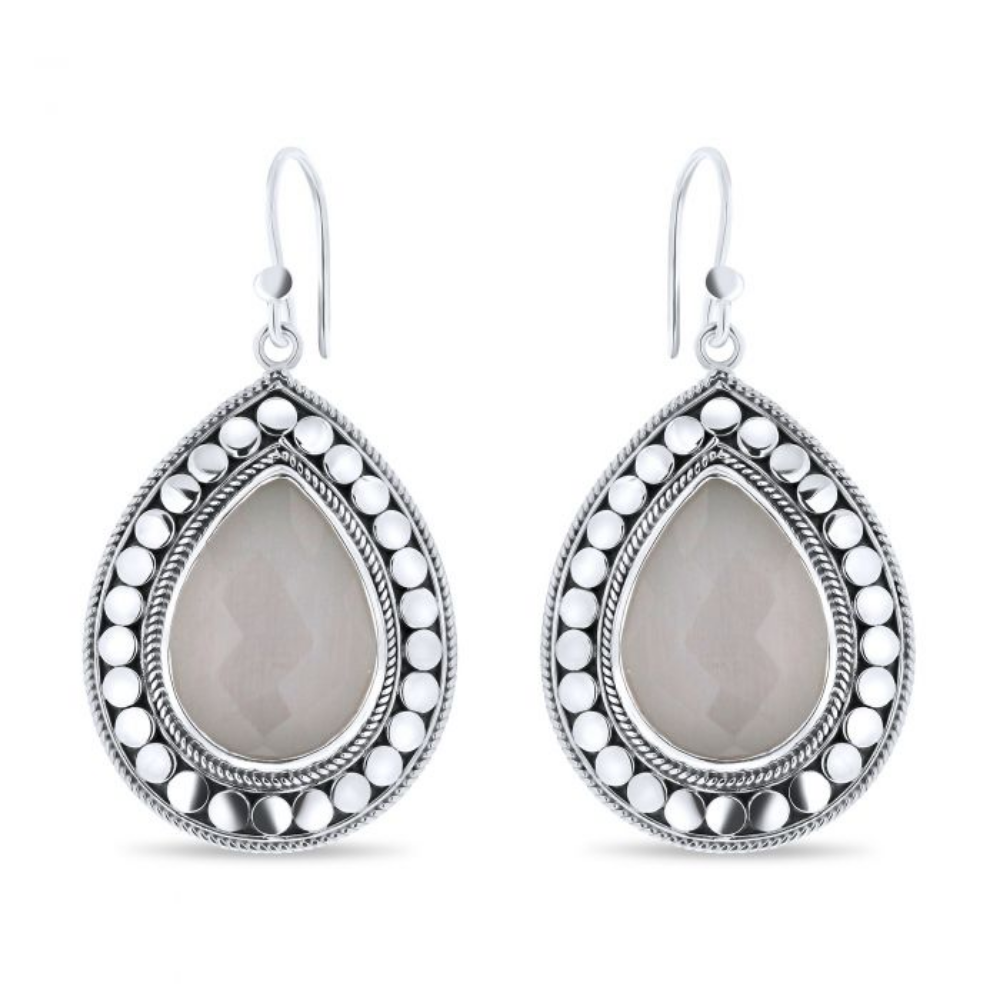 CLOSE TO ZEN | Oorbellen - Feels like summer grey moonstone