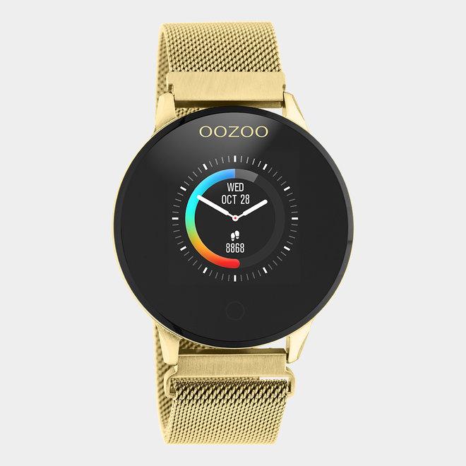 OOZOO | Smartwatch unisex goud/goud mesh