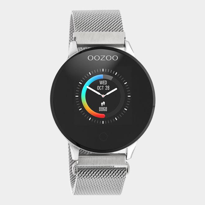 OOZOO | Smartwatch unisex zilver/zilver mesh