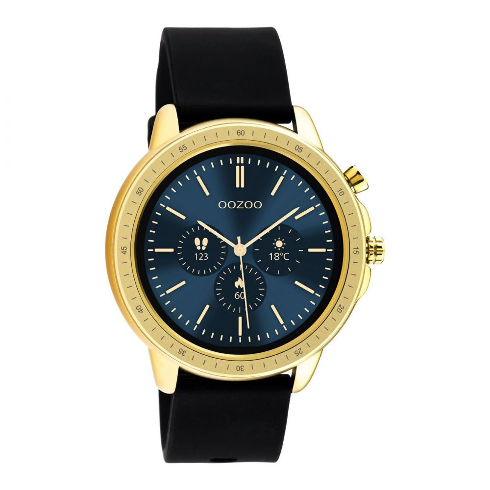 OOZOO | Smartwatch unisex zwart/goud