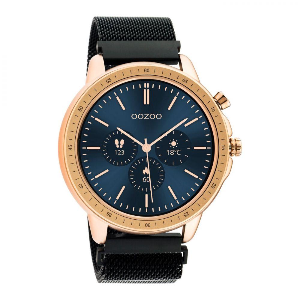 OOZOO | Smartwatch unisex zwart/rosé-goud