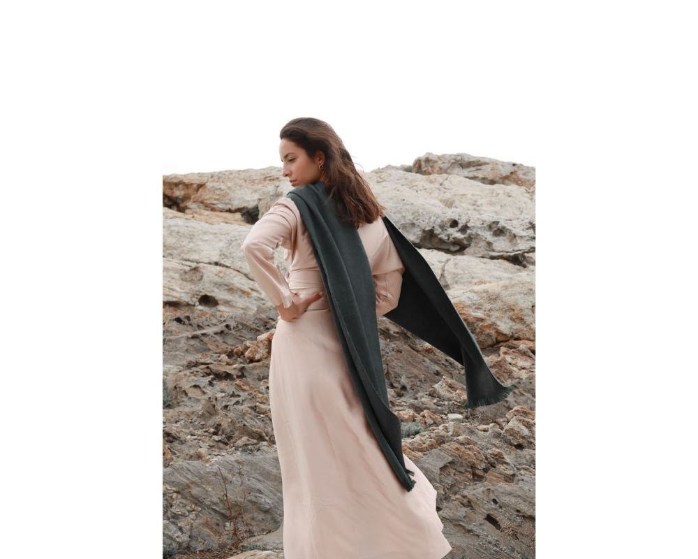 BUFANDY | Sjaal Solid XS - Emerald Green