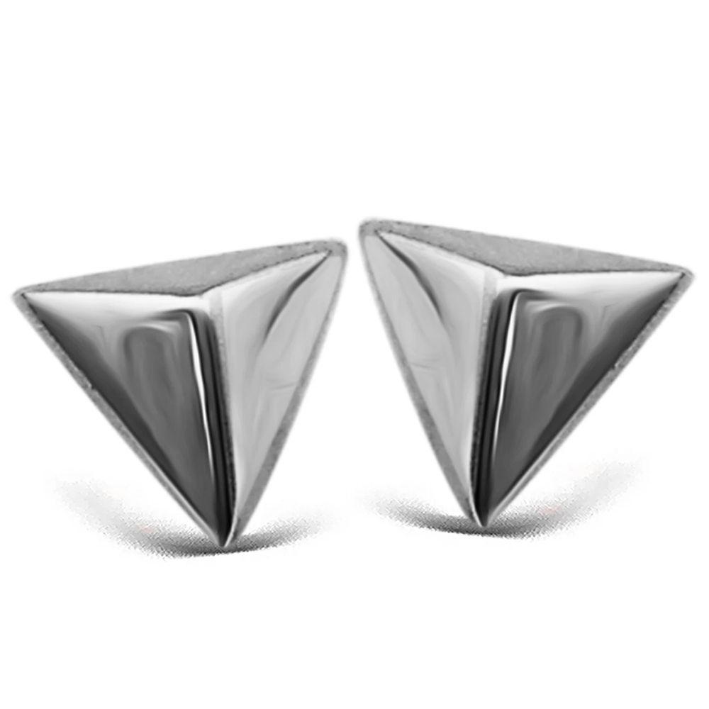 JWLS4U | Earstuds Pyramide Silver