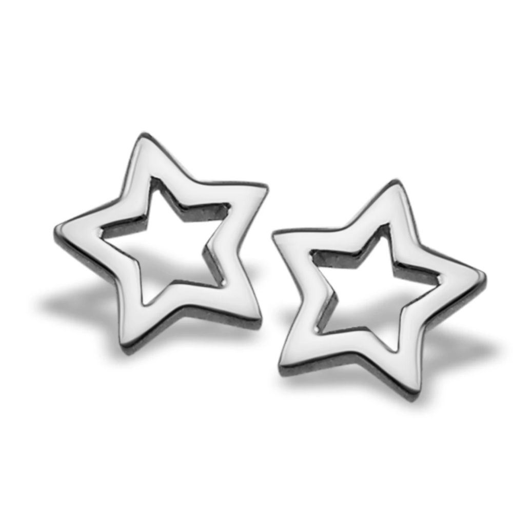 JWLS4U | Earstuds Star Open Silver