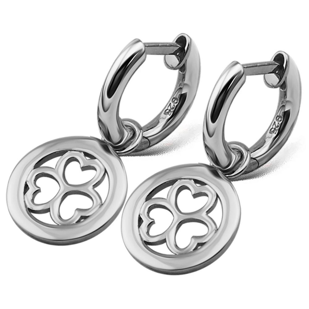 JWLS4U | Earrings 3 Hearts Silver