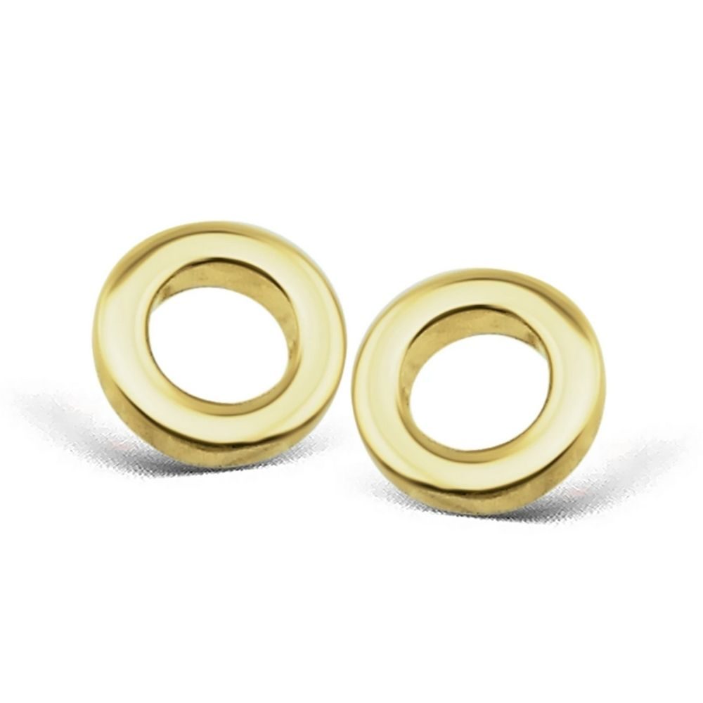 JWLS4U | Earstuds Circle Gold