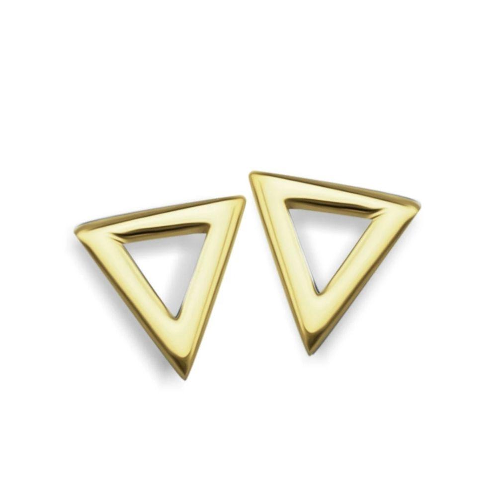 JWLS4U | Earrings Triangle Gold